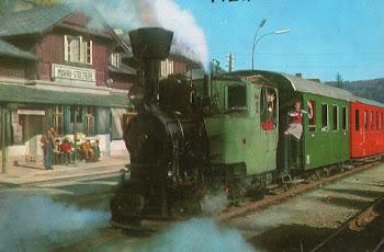 Loc. de vapor con coches de viajeros