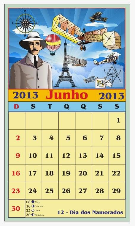 Calendrio Lunar Junho 2012 Feriados Datas Fases Da Lua Dark Brown