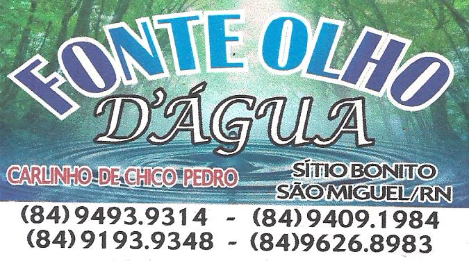 FONTE OLHO D'ÁGUA