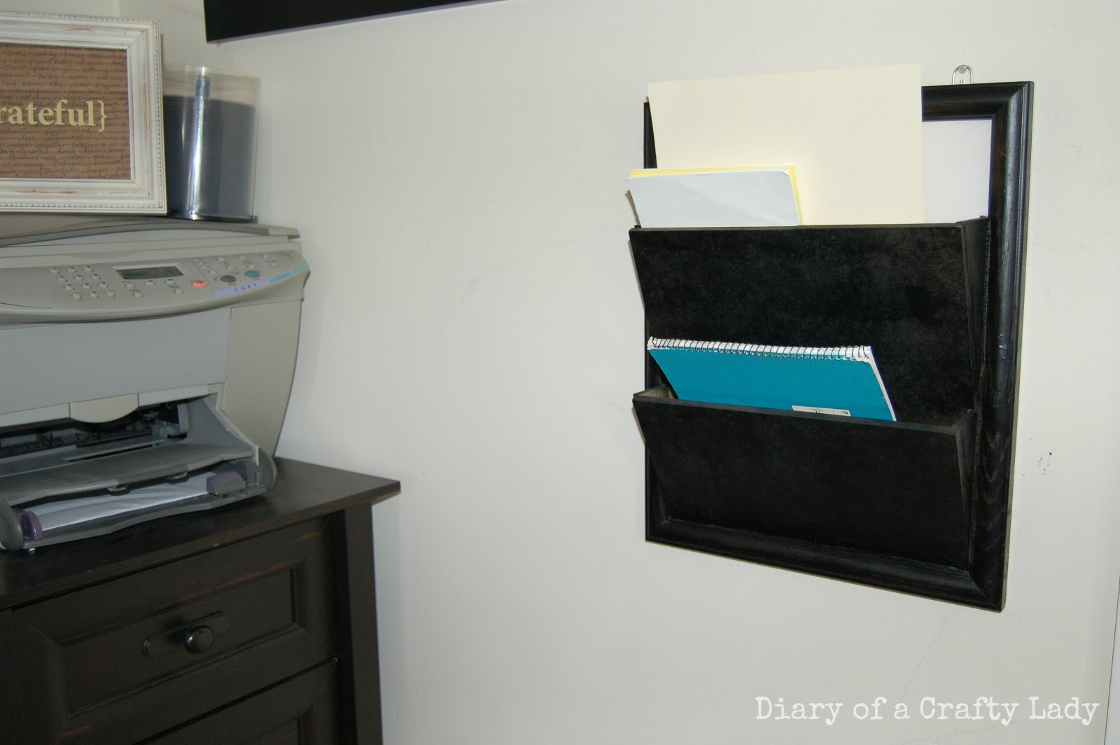 diary of a crafty lady wall mounted paper or magazine. Black Bedroom Furniture Sets. Home Design Ideas