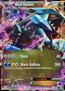 Black Kyurem EX Plasma Storm Pokemon Card