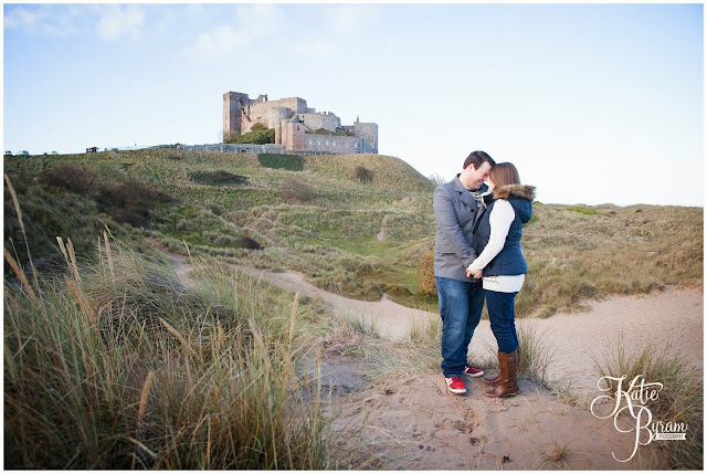bamburgh castle wedding, bamburgh pre-wedding shoot, katie byram photography