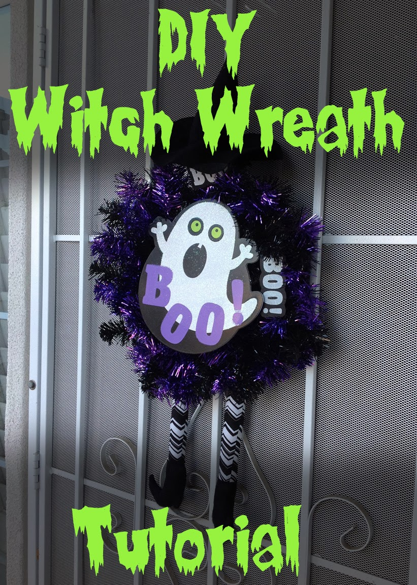 halloween witch wreath tutorial