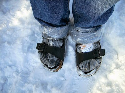 birkenstocks in winter