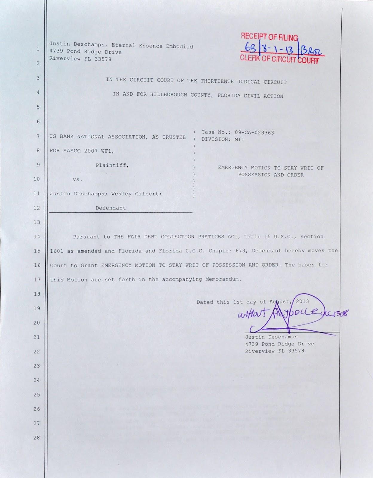 Emergency Motion Denied - Fraud of the System Revealed | Stillness ...