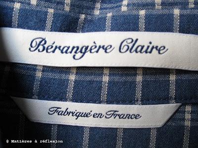 Chemise Mondroff à carreaux homme Bérangère Claire