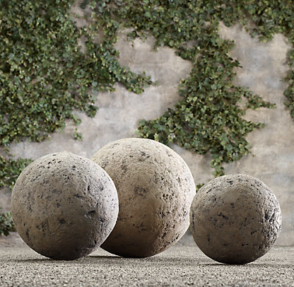 Constructed Of Resin, Withstands Freezing Temps, No Two Are Alike.  Restoration Hardware. My DIY Concrete Garden Sphere
