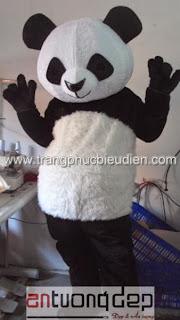 may bán mascot con gấu