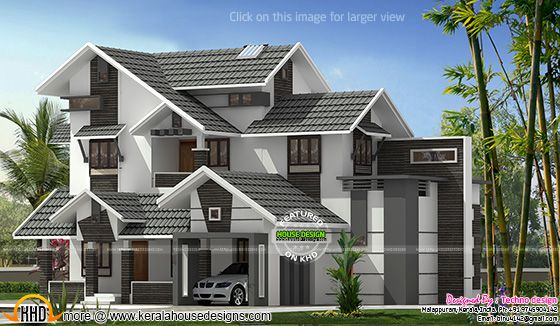 New sloping roof mix house