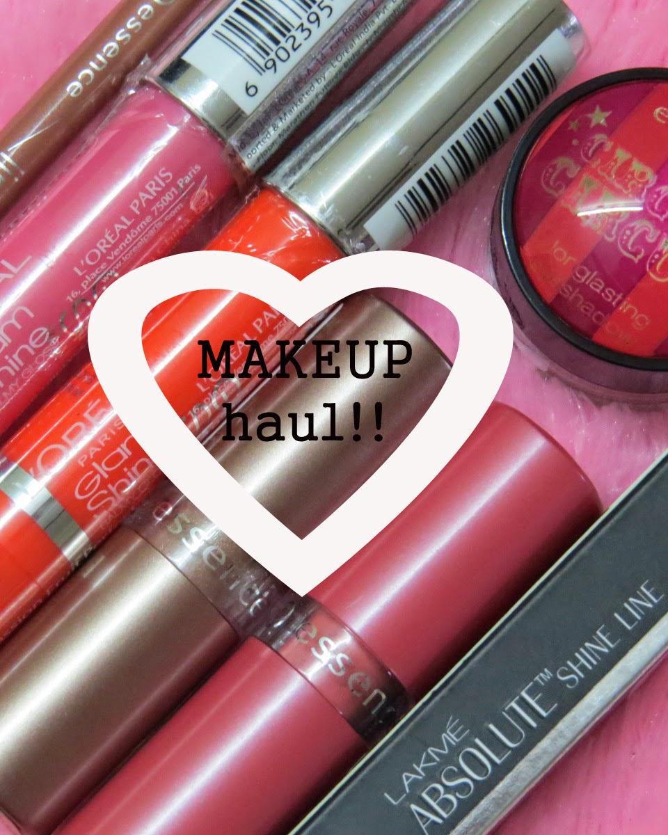 Makeup haul, Indian makeup haul, Makeupmirrornme