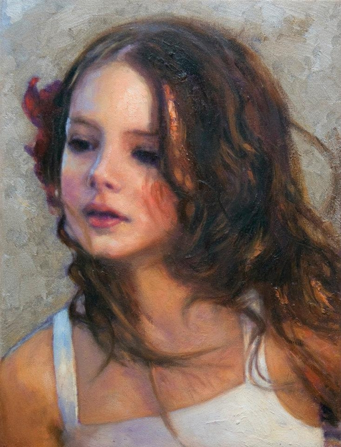 Children in art | Odysseas Oikonomou 1967 | Albanian-Born Greek Portrait painter