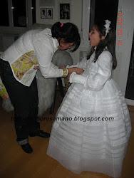 Vestido de comunión hecho a mano