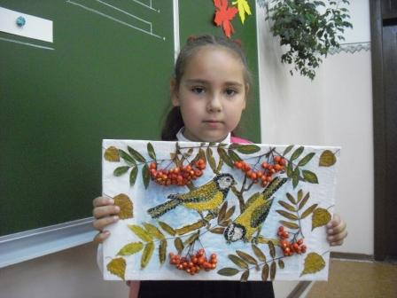 поделка из природного материала в школу фото