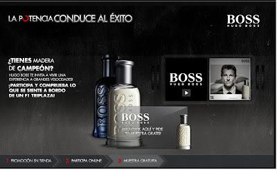 Consigue una muestra gratis de la fragancia Hugo Boss
