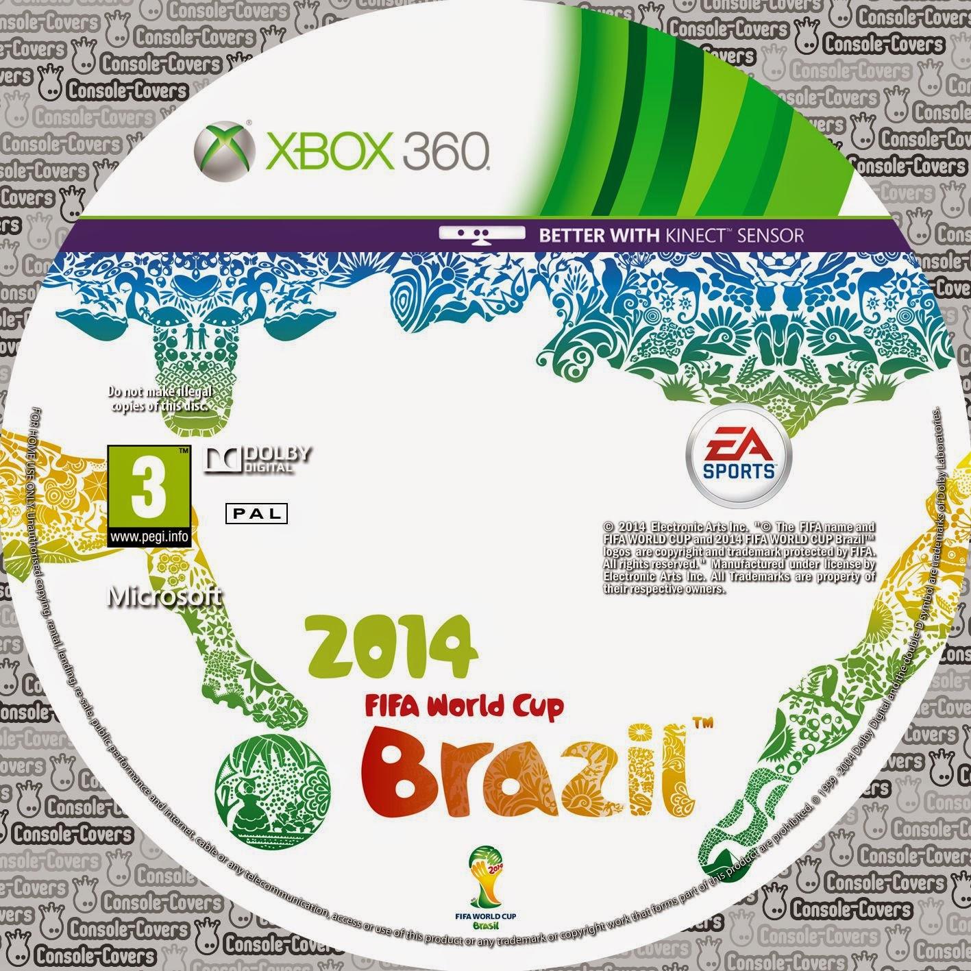 Label 2014 Fifa World Cup Brazil Xbox 360