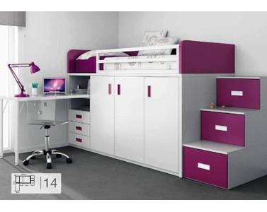 Nea muebles a medida camas elevadas for Camas altas juveniles