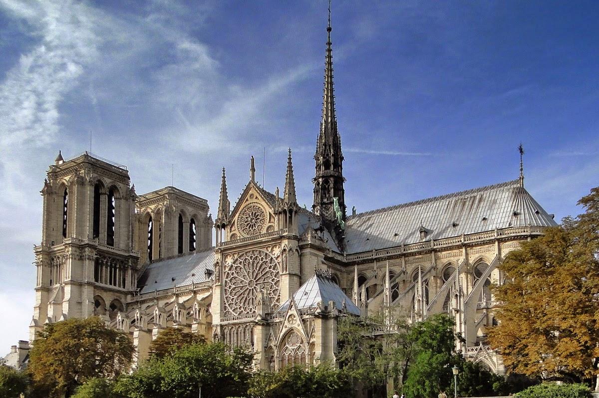 Pontos turísticos em Paris Catedral de Notre Dame
