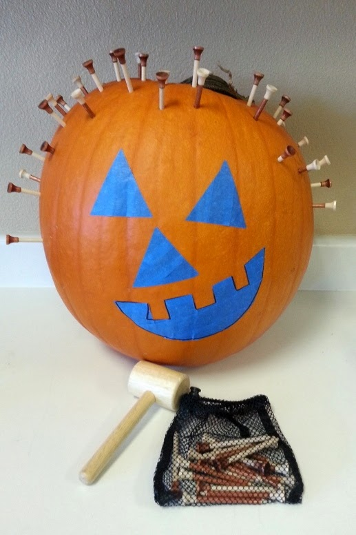 fine motor halloween craft for kids, hammering crafts for kids,