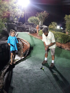 Boys playing mini-golf: Myrtle Beach, SC :: All Pretty Things
