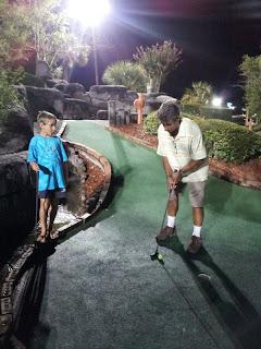 Boys playing mini-golf: Myrtle Beach, SC :: All Pretty Things