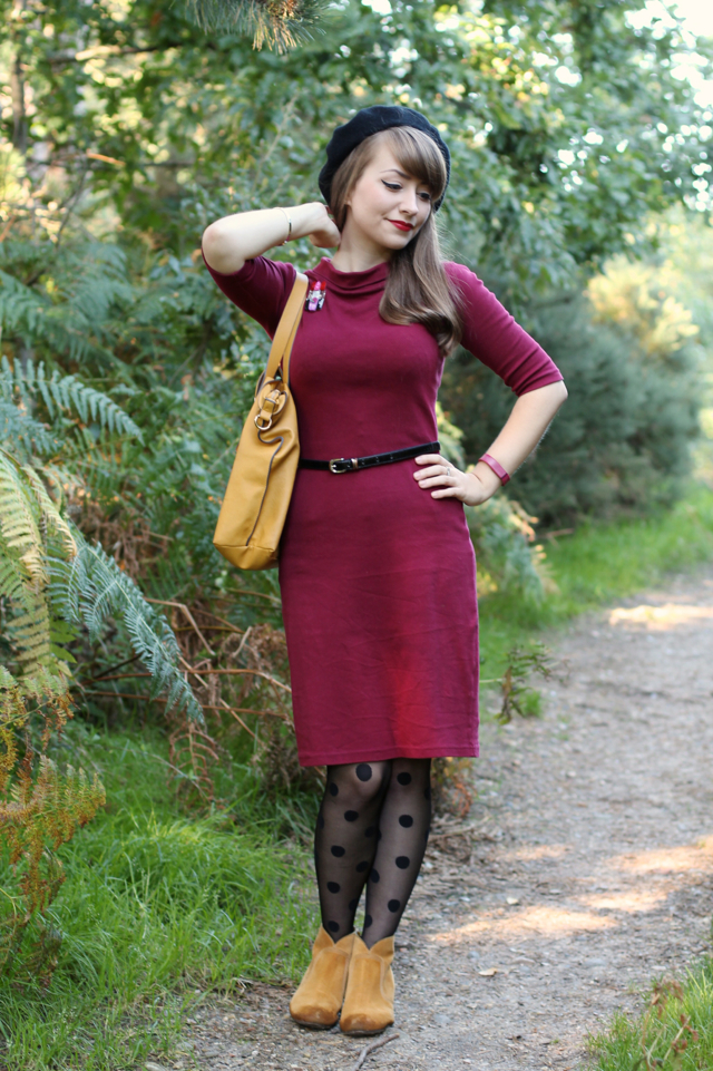 Heart of Haute Super Spy dress with mustard and polka dots