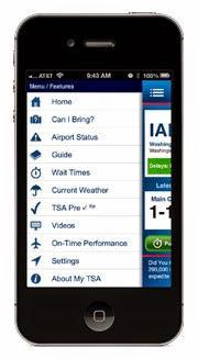 My TSA Application Screen Shot