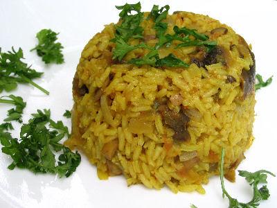 Mushroom Pulao Rice