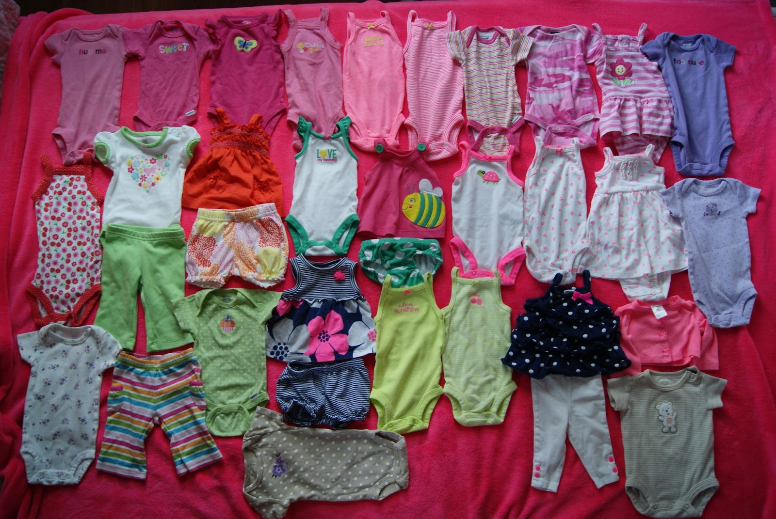 Newborn clothes, 34 items for $47