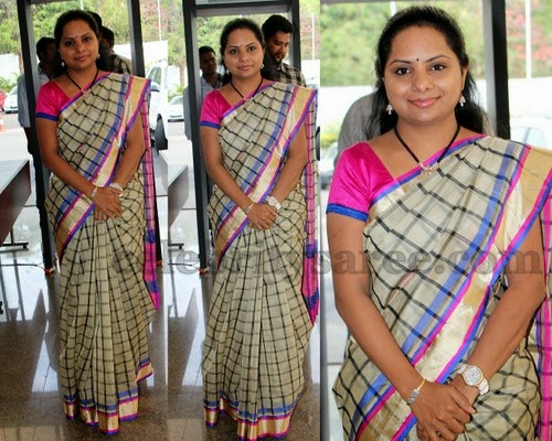 Kavitha Stripes Silk Saree