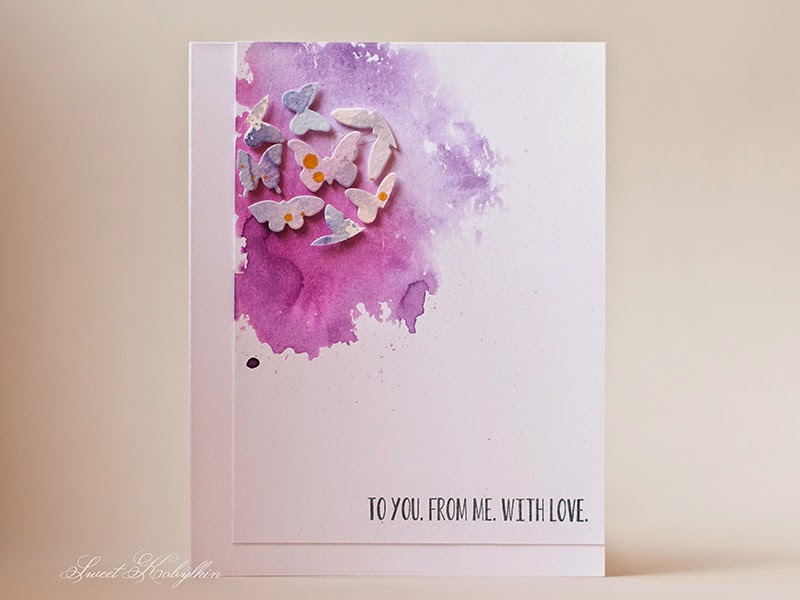 Greeting Card with Distressed Background by Sweet Kobylkin