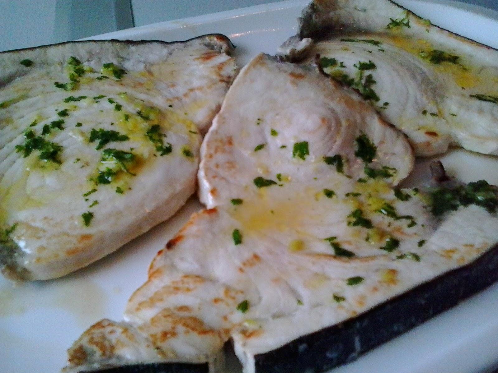 Caprichos de mayte pez espada con ali o de ajo for Pez espada fresco