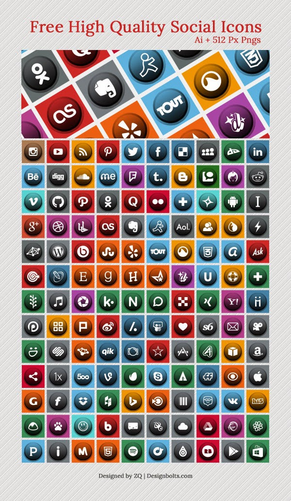 130 Social Media Icons