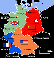 Mapa de Alemania tras la Segunda Guerra Mundial
