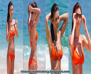 Audrina Patridge Bikini, Audrina Patridge Orange Bikini