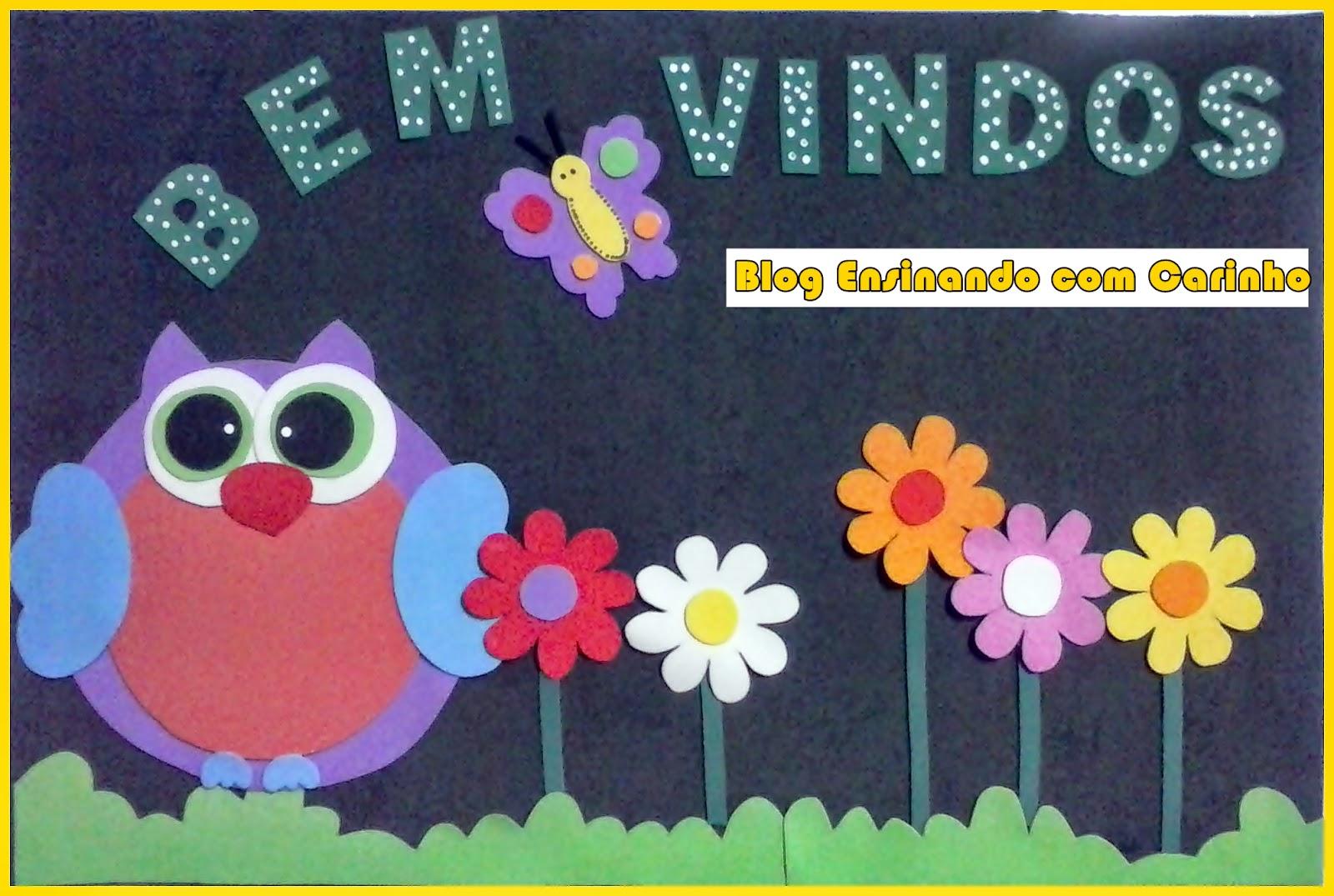 Ensinando com carinho painel de bem vindos jardim das for Mural de fotos 1 ano
