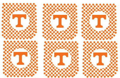 Free Printable University of Tennessee Cupcake Toppers
