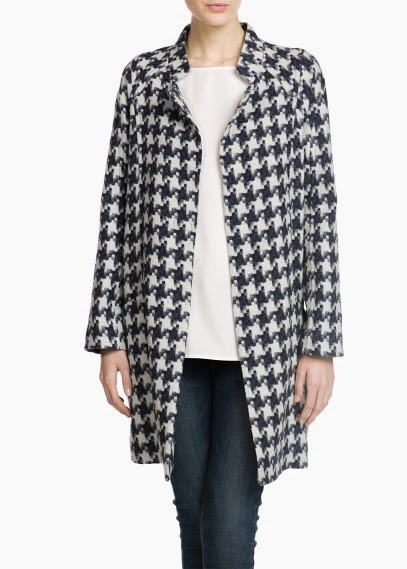 MANGO Hounds-tooth coat, $189.95