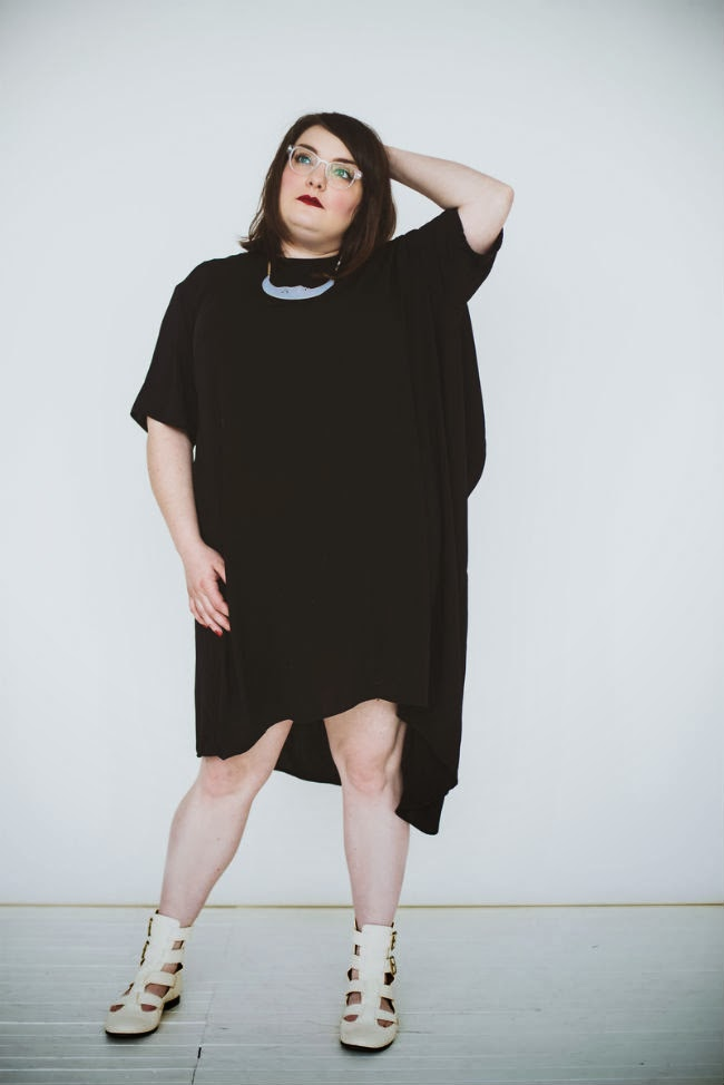 asymmetrical, plus size blogger, plus size, black, goth, asos, dress, curve,