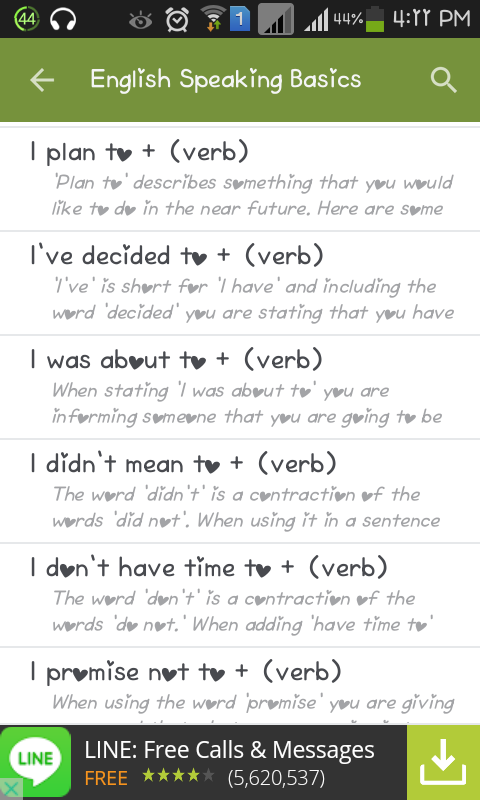 kaedah atau cara bercakap dalam bahasa inggeris