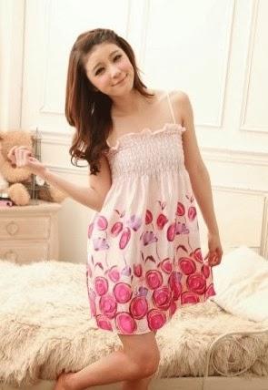 baju tidur sc7702 warna pink
