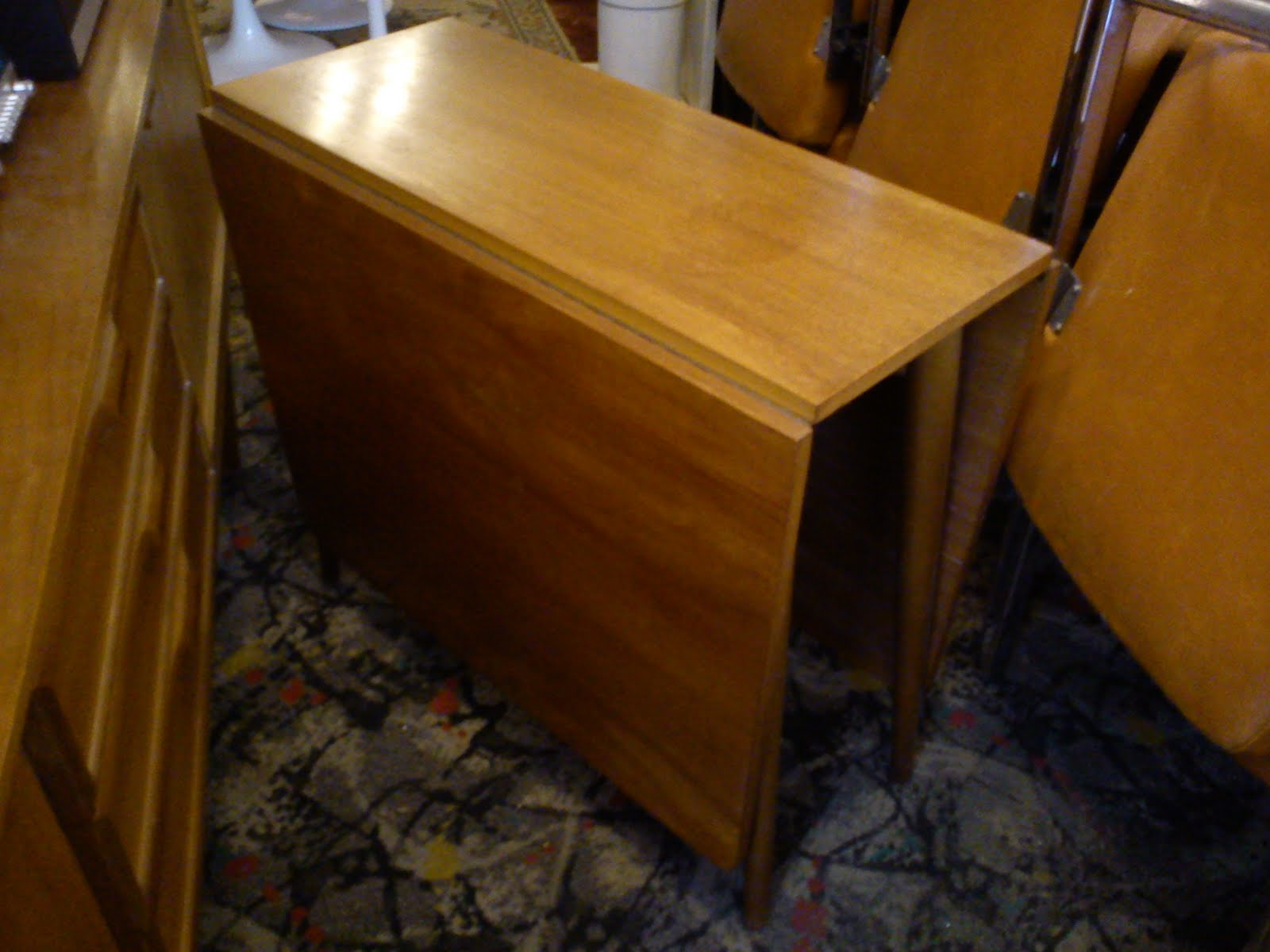 1970s solid teak drop leaf dining table £SOLD