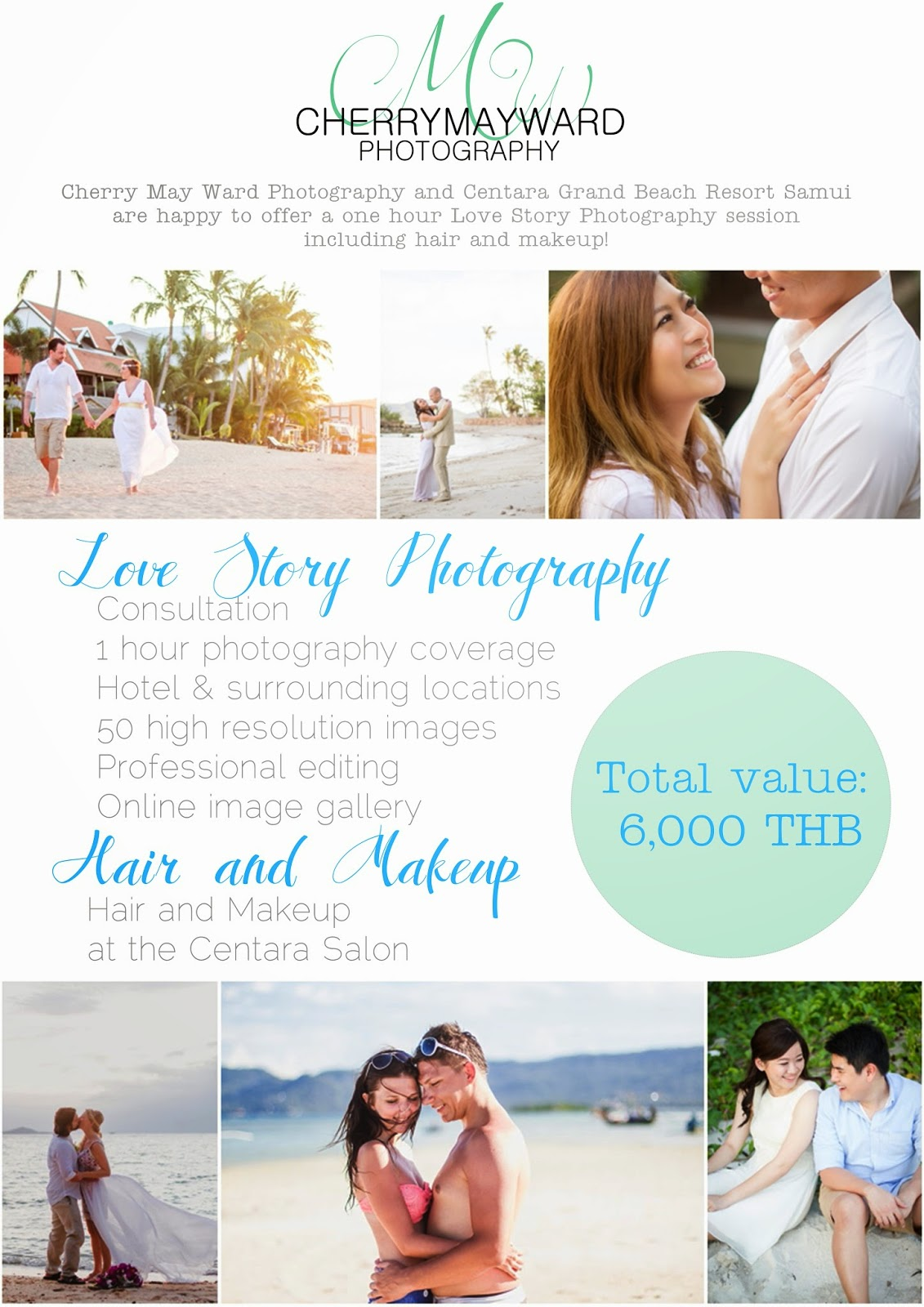 Charity Auction item, up for auction, Love Story Photography, Koh Samui Charity Auction event, Charity event on Koh Samui, Cherry May Ward Photography and Centara Grand Beach Resort Samui, all proceeds go to Special Needs School of Samui