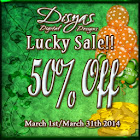50% Off March 2014 Sale!
