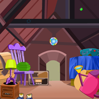 Juegos de escape Old Dirty Attic Home Escape