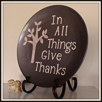 $ Store, Cricut, Plate, Thanksgiving, Give Thanks