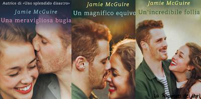 """Recensione della serie """"Happenstance"""" di Jamie McGuire, Una meravigliosa bugia,  Un magnifico equivoco,  Un'incredibile follia."""