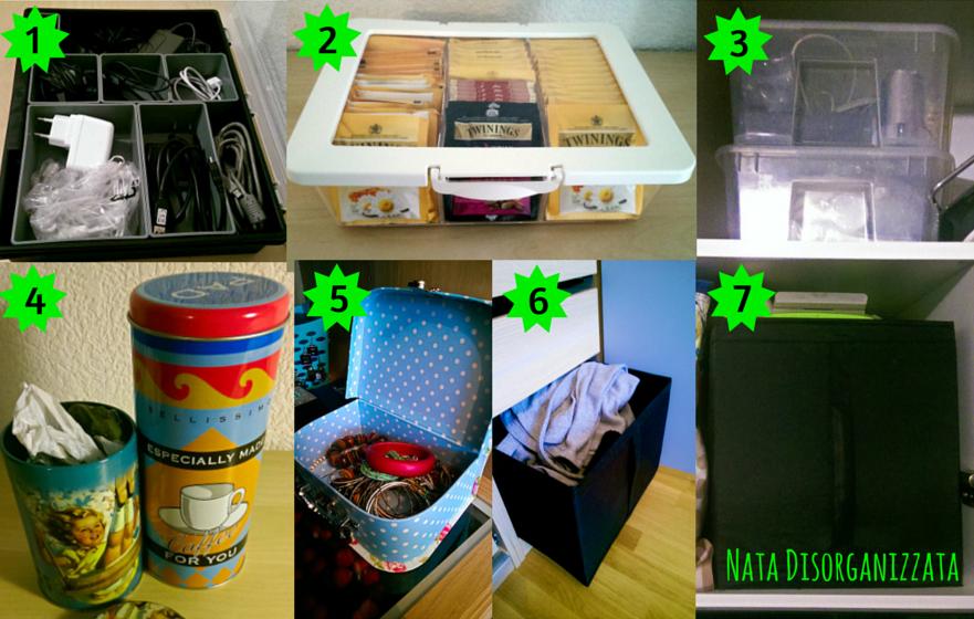 scatole ikea idee organizzative