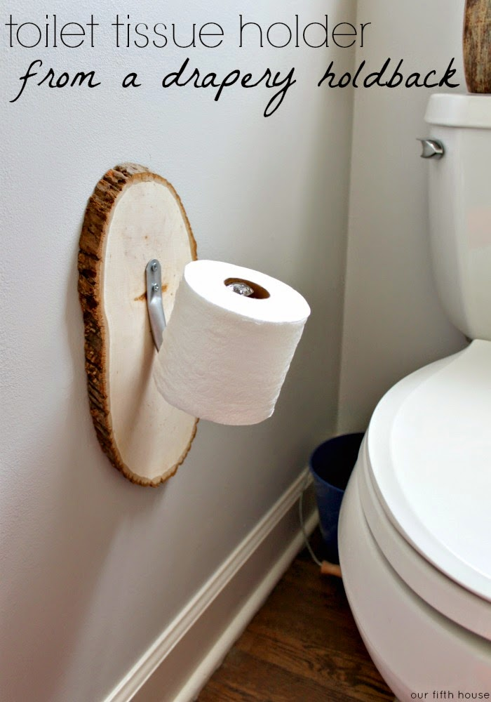 Diy toilet tissue holder for Things to make with toilet paper rolls
