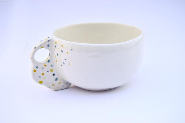 Barruntando cerámica taza