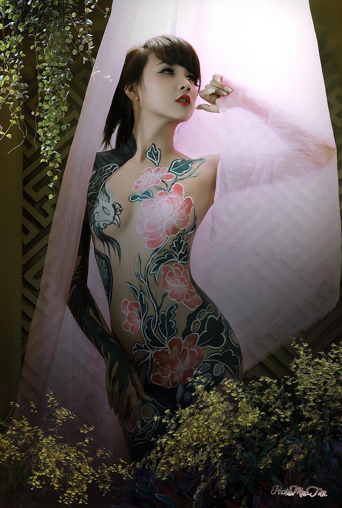 Ảnh gái đẹp sexy với body painting Phần 2 11